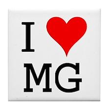 I Love MG Tile Coaster