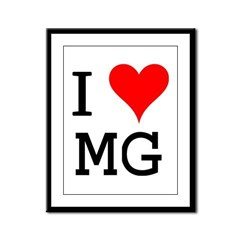 I Love MG Framed Panel Print