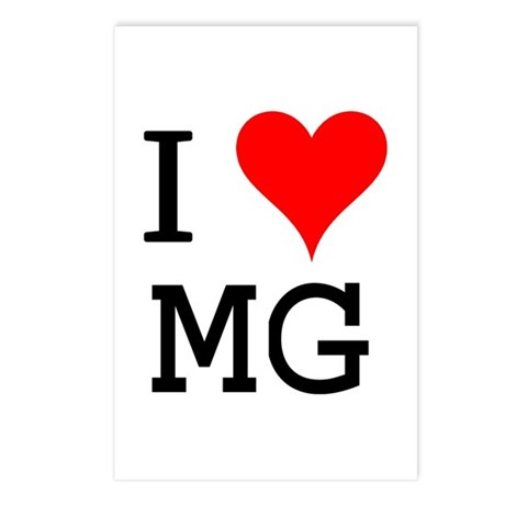 I Love MG Postcards (Package of 8)