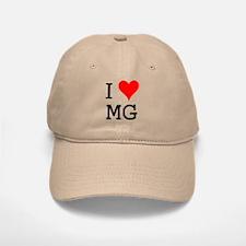 I Love MG Baseball Baseball Cap