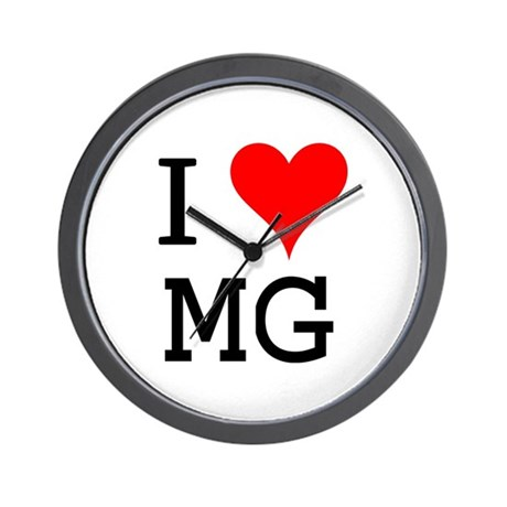 I Love MG Wall Clock