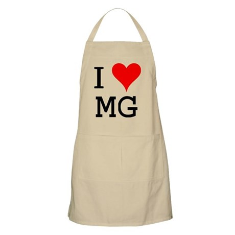 I Love MG BBQ Apron
