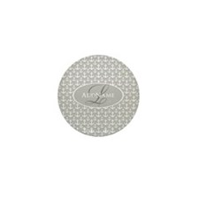 Gray White Anchors Monogram Mini Button (10 pack)
