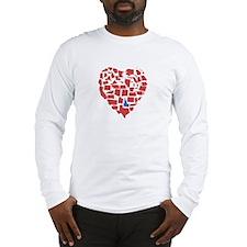 Idaho Heart Long Sleeve T-Shirt