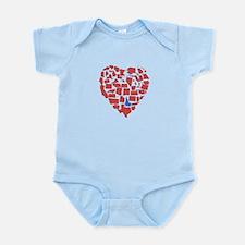 Idaho Heart Infant Bodysuit