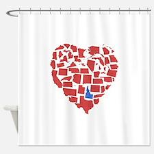 Idaho Heart Shower Curtain