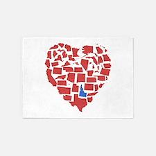 Idaho Heart 5'x7'Area Rug