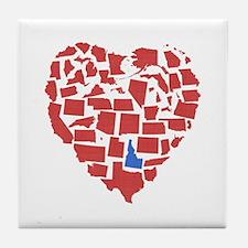 Idaho Heart Tile Coaster