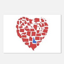 Idaho Heart Postcards (Package of 8)