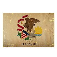 Illinois State Flag VINTAGE Postcards (Package of
