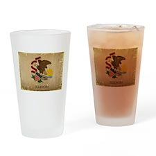 Illinois State Flag VINTAGE Drinking Glass