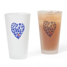 Idaho Heart Drinking Glass