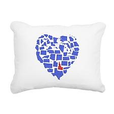 Idaho Heart Rectangular Canvas Pillow