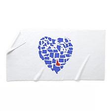 Idaho Heart Beach Towel