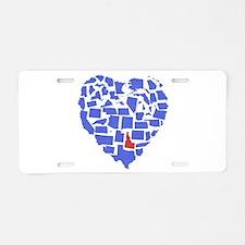 Idaho Heart Aluminum License Plate
