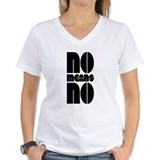 Anti rape Womens V-Neck T-shirts