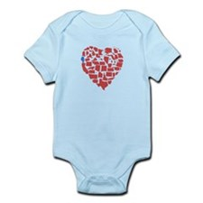 Illinois Heart Infant Bodysuit