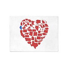 Illinois Heart 5'x7'Area Rug