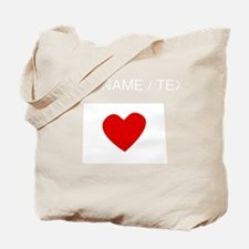 Custom North Dakota Heart Tote Bag