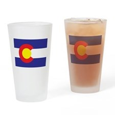 Colorado State Flag Drinking Glass