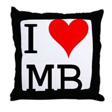 I Love MB Throw Pillow