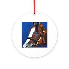 2012 Belmont Stakes winner Union Ra Round Ornament