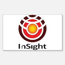 InSight to Mars! Sticker (Rectangle)