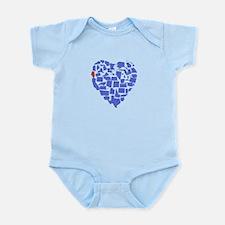 Illinois Heart Infant Bodysuit