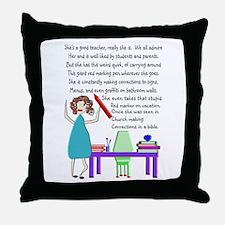 Teacher Red Marker Throw Pillow