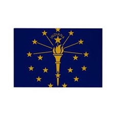 Indiana State Flag 2 Magnets