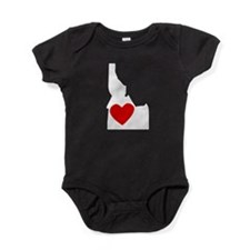Idaho Heart Baby Bodysuit