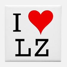 I Love LZ Tile Coaster