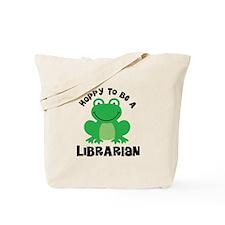 Hoppy Frog Librarian Tote Bag