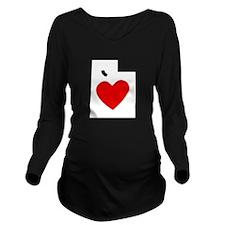 Utah Heart Long Sleeve Maternity T-Shirt