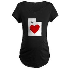 Utah Heart Maternity T-Shirt