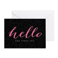 Modern Dots Thank You Greeting Cards