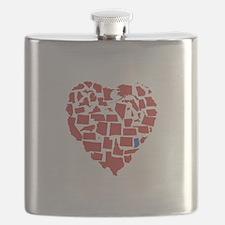 Indiana Heart Flask