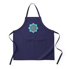 Lotus Blue2 Apron (dark)