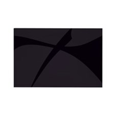 Simple Black Abstract Art Magnets