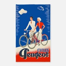 Cycles Peugeot, Vintage Poster 3'x5' Area Rug
