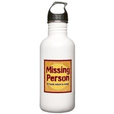 Missing Person Water Bottle