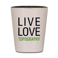 Topography Shot Glass