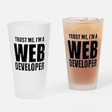 Trust Me, Im A Web Developer Drinking Glass