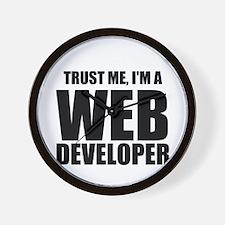 Trust Me, Im A Web Developer Wall Clock
