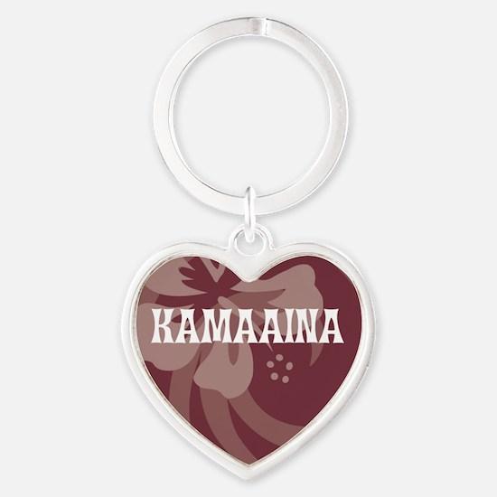 Kamaaina Heart Keychain