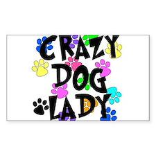 Crazy Dog Lady Decal