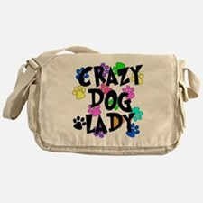Crazy Dog Lady Messenger Bag