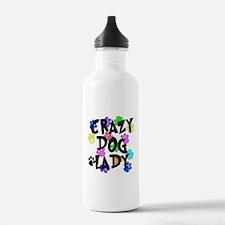 Crazy Dog Lady Water Bottle