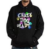 Crazy dog lady Dark Hoodies