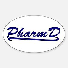 blue pharmd Decal